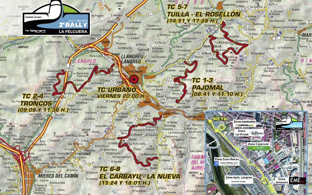 Mapa del rally